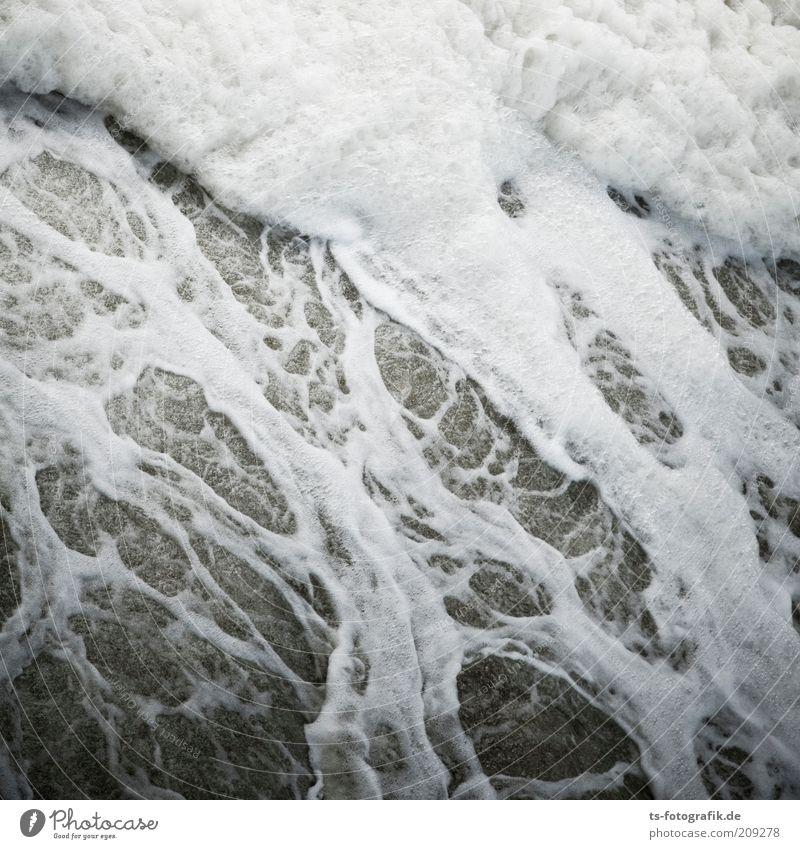 Absturz auf Solaris II Natur Wasser weiß Meer grau Küste Wellen Umwelt nass Fluss wild Sturm Urelemente chaotisch Muster fließen