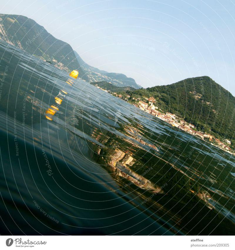 Atlantis Natur Wasser schön Sommer Ferien & Urlaub & Reisen See Landschaft Wellen Perspektive Insel Reisefotografie Italien Seeufer Schönes Wetter untergehen