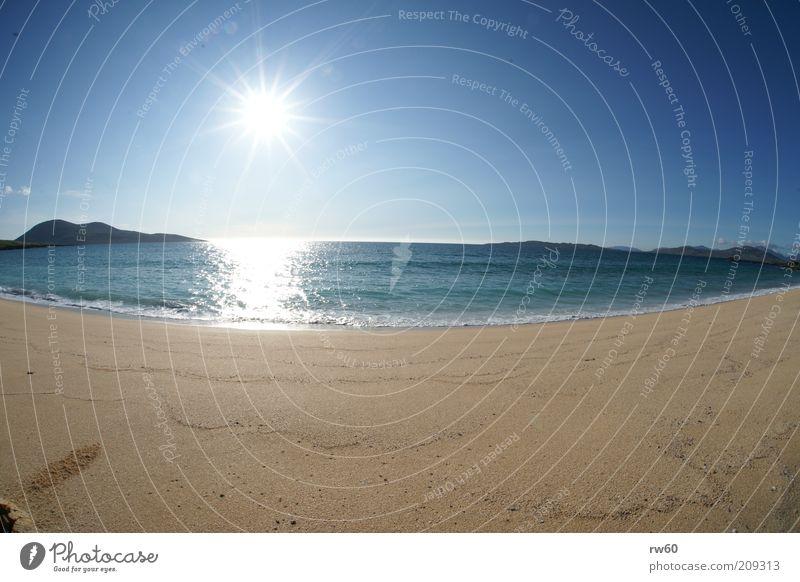 Schottische Südsee ( Isle of Harris) Natur Wasser Himmel Sonne Meer Sommer Strand Ferien & Urlaub & Reisen ruhig Erholung Glück Sand Landschaft hell Insel