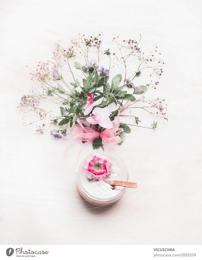 Naturkosmetik Hautcreme Pflanze schön Blume Blatt Leben Blüte Stil Design kaufen Wellness Körperpflege Kosmetik feucht Creme Wildpflanze Spa
