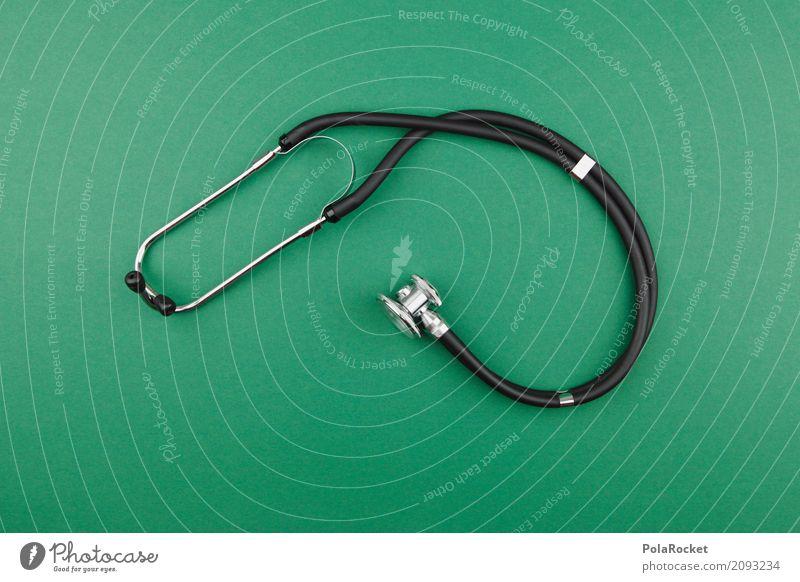 #AS# Hörst Du! Kunst ästhetisch hören Hörgerät Stethoskop Arzt untersuchen grün Medikament Medizintechnik Medizinisches Instrument Medizintechnisches Zentrum