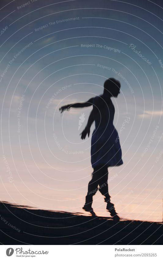 #A# Balance-Akt Frau Wasser Kunst ästhetisch Kleid Gleichgewicht Rock Surrealismus Kunstwerk verträumt Wasseroberfläche mystisch Balletttänzer Tänzer Fee