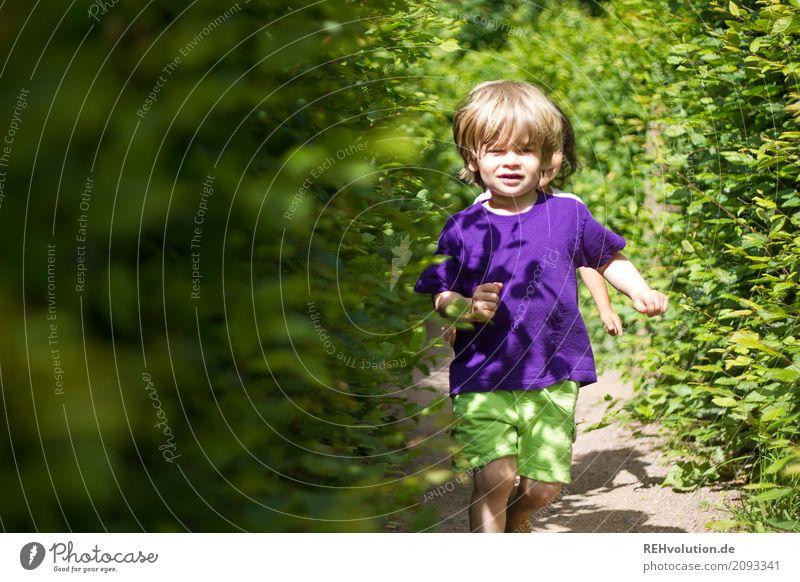 sommer 2017 - Labyrinth Mensch Kind Kleinkind Junge Freundschaft Kindheit 1-3 Jahre Umwelt Natur Sommer Schönes Wetter Hecke Wege & Pfade T-Shirt Bewegung