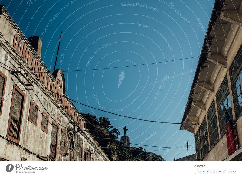 Cristo Rei Ferien & Urlaub & Reisen Tourismus Ferne Sightseeing Städtereise Himmel Wolkenloser Himmel Schönes Wetter Lissabon Portugal Stadt Hauptstadt