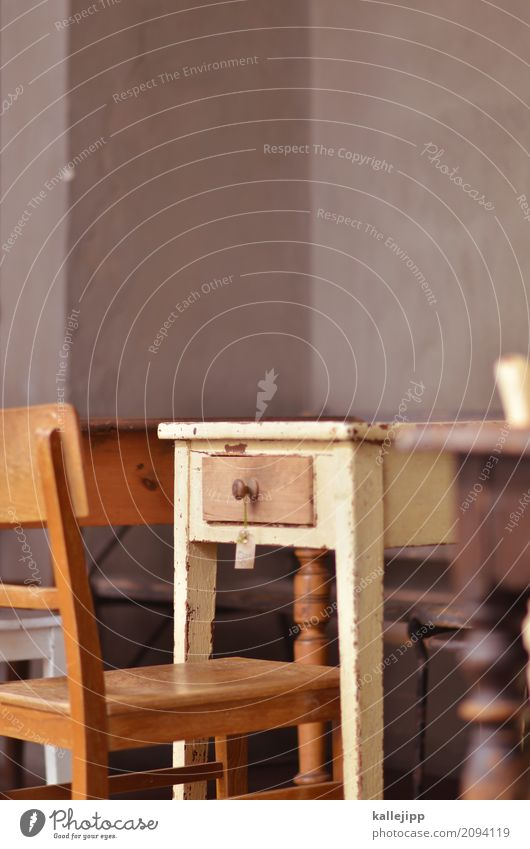 tischlein deck dich Häusliches Leben Wohnung einrichten Innenarchitektur Dekoration & Verzierung Möbel Schreibtisch Stuhl Tisch Raum Wohnzimmer alt antik