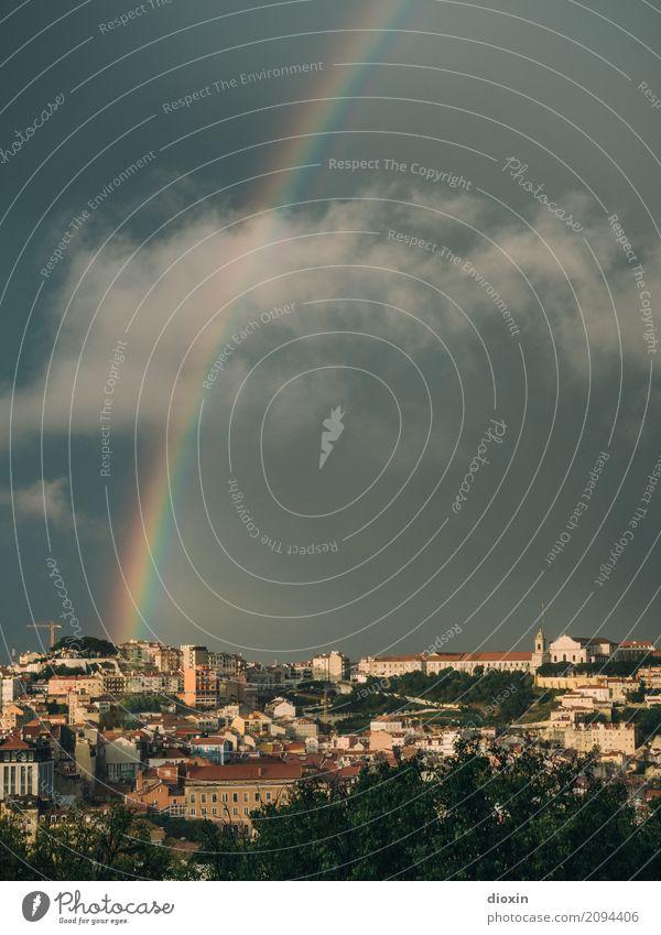 Lisboa Himmel Ferien & Urlaub & Reisen Stadt Ferne Tourismus Regen Wetter Europa Schönes Wetter Hauptstadt Altstadt Stadtzentrum Fernweh Städtereise Sightseeing