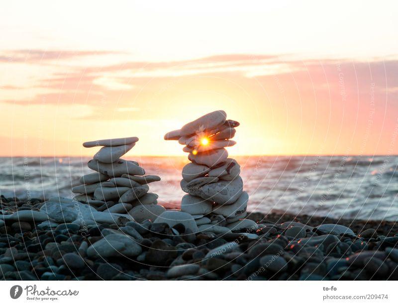 LandArt Natur Wasser Himmel Sonne Meer Sommer Strand Landschaft Stimmung Küste Kunst Sonnenuntergang außergewöhnlich Skulptur Nordsee Sonnenaufgang