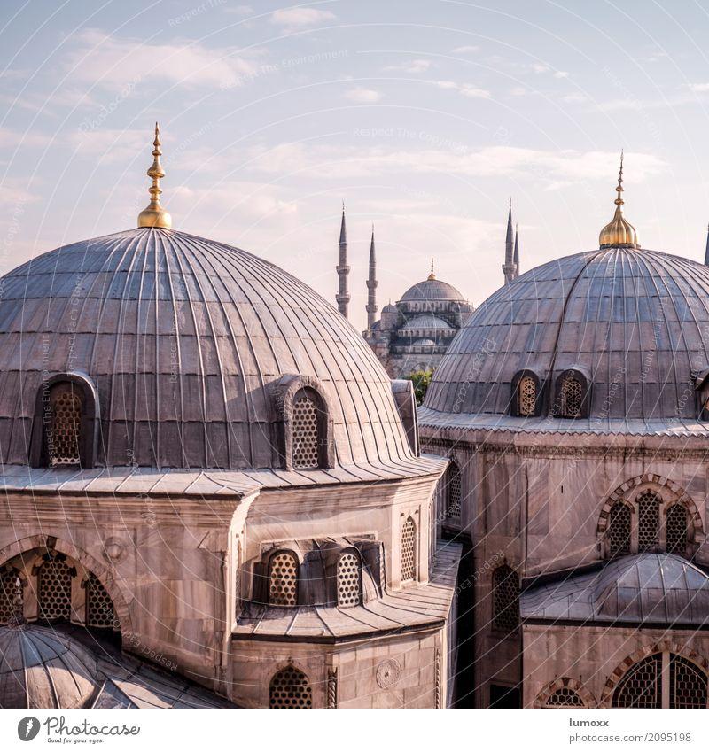 major Stadt Religion & Glaube Architektur Gebäude grau Fassade gold Europa Bauwerk Sehenswürdigkeit Wahrzeichen Denkmal Kuppeldach Türkei Islam Istanbul