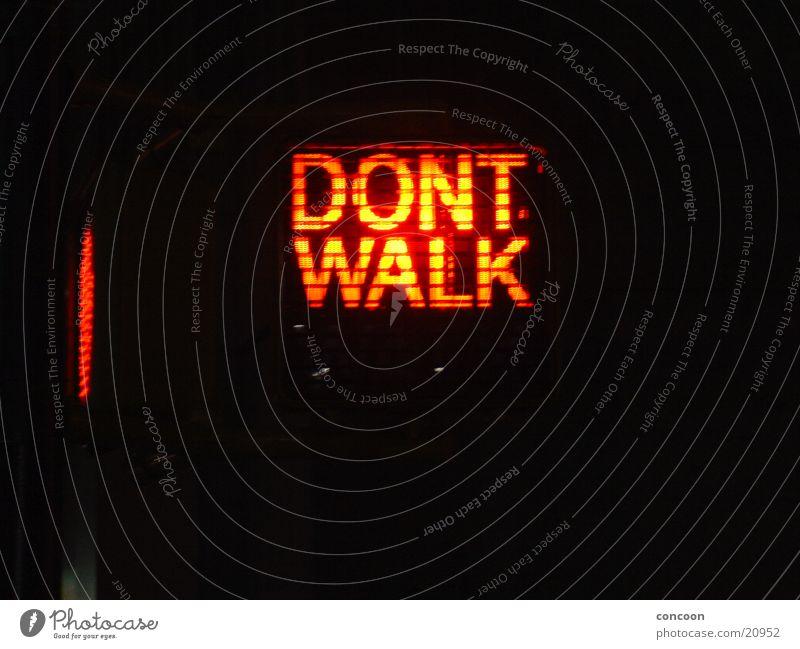 Don't walk! rot USA Freizeit & Hobby Ampel New York City Fußgängerübergang