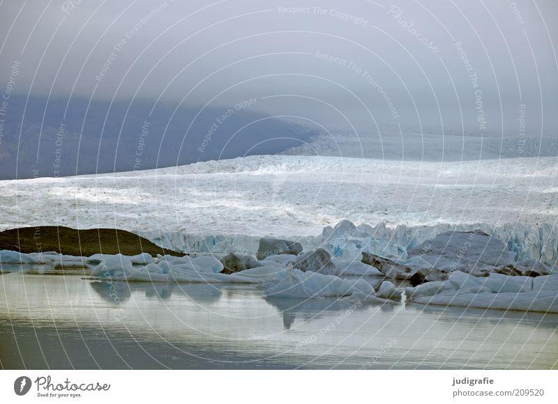 Island Umwelt Natur Landschaft Wasser Klima Klimawandel Eis Frost Hügel Berge u. Gebirge Gletscher See außergewöhnlich kalt wild Stimmung Einsamkeit