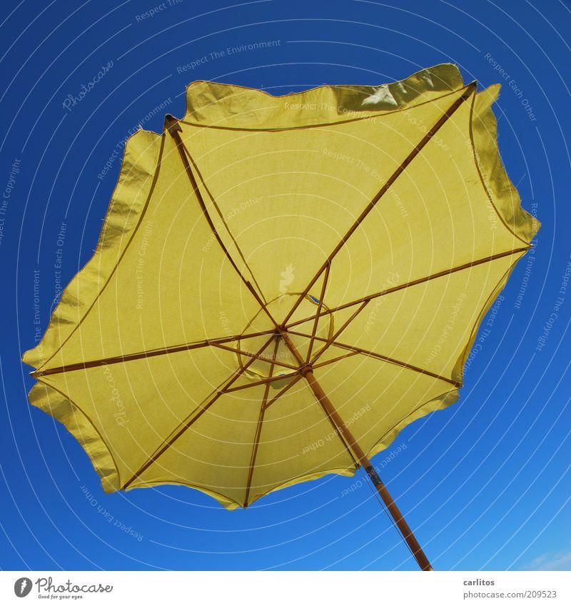 es regnet, es regnet .... blau Sommer Ferien & Urlaub & Reisen ruhig gelb Erholung oben Wärme Zufriedenheit hell Wind Perspektive ästhetisch Tourismus Klima
