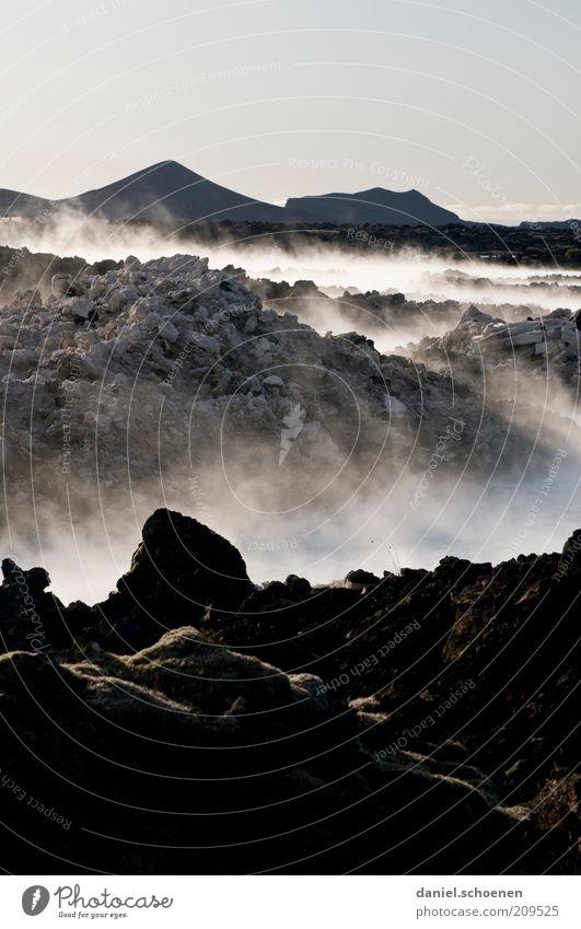 ...und die Erde war wüst und leer Ferien & Urlaub & Reisen Ferne Umwelt Landschaft Urelemente Wasser Klima Klimawandel Vulkan dunkel Endzeitstimmung Wasserdampf