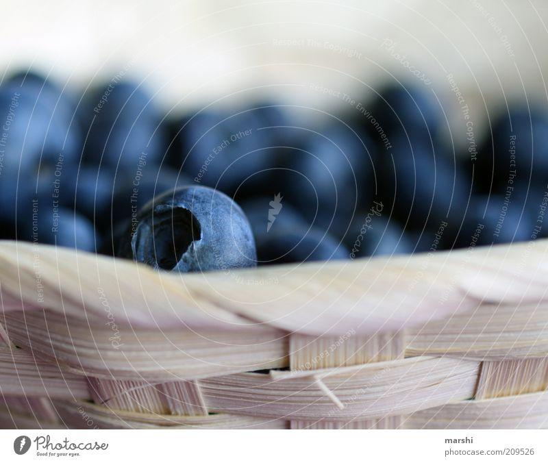 scharfe Beere blau Ernährung Gesundheit Lebensmittel Frucht lecker Beeren Korb Snack geschmackvoll geflochten Blaubeeren