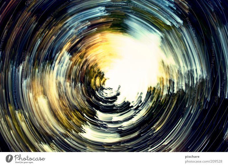 Drahdiwaberl Kunst Kreis rund Gemälde drehen bizarr chaotisch Unschärfe Experiment Aktion mehrfarbig