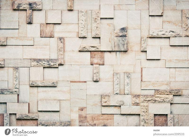 Tetris Stil Design Kunst Kunstwerk Bauwerk Gebäude Architektur Mauer Wand Fassade Stein alt eckig einfach retro Dekoration & Verzierung Steinwand Steinmauer