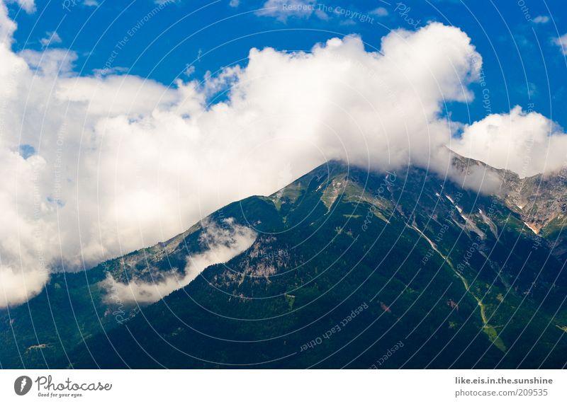 Der Nebel lichtet sich... Ferien & Urlaub & Reisen Ferne Sommer Sommerurlaub Berge u. Gebirge Umwelt Natur Landschaft Himmel Wolken Klima Wetter Schönes Wetter