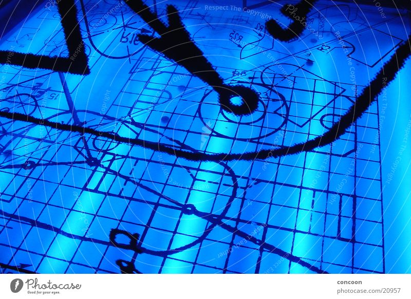 Electric Blue blau Lampe Stil Architektur Studium Ziffern & Zahlen Physik Geometrie Mathematik Bildung