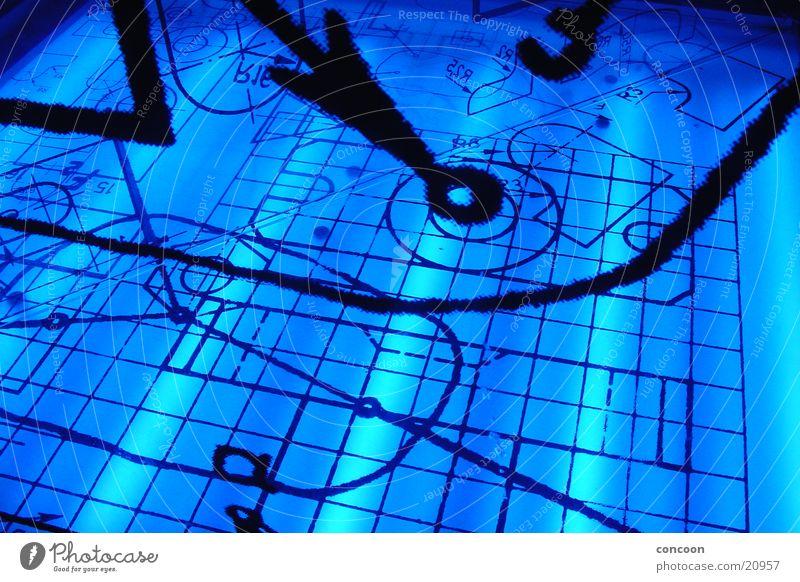 Electric Blue Geometrie Physik Mathematik Stil Architektur blau Lampe Ziffern & Zahlen Studium TU Ilmenau