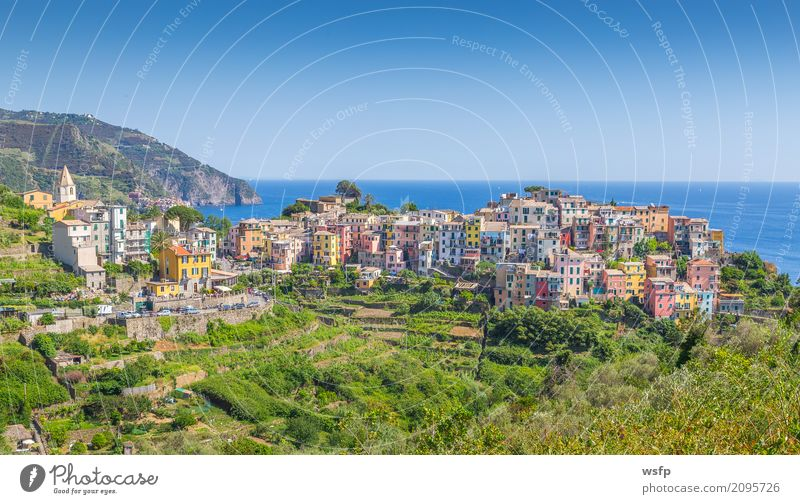 Corniglia Cinque Terre Ligurien Italien Meer Landschaft Küste Dorf Altstadt Architektur historisch la spezia reisen panorama Europa Sonnenuntergang Klippe
