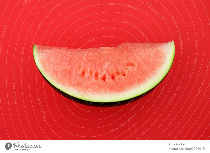#AS# Melone rot auf rot Sommer Gesunde Ernährung Kunst ästhetisch lecker Sommerurlaub graphisch Kunstwerk sommerlich Saison Melonen Sommertag Melonenschiffchen