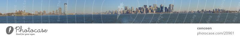 The 15832 Pixels Manhattan Skyline Panorama groß Hochhaus USA Aussicht New York City Panorama (Bildformat) Nordamerika
