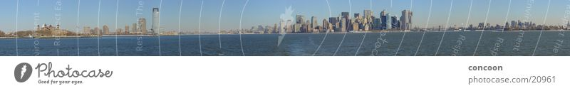 The 15832 Pixels Manhattan Skyline Panorama New York City Hochhaus Panorama (Aussicht) Nordamerika USA 180 Grad 360 Grad Ellis Island groß Panorama (Bildformat)