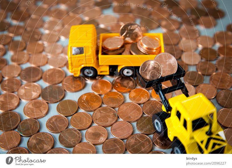 zuviel des Guten rot gelb 1 Arbeit & Erwerbstätigkeit 2 Geld Baustelle Ziffern & Zahlen Symbole & Metaphern viele Geldinstitut Spielzeug Reichtum