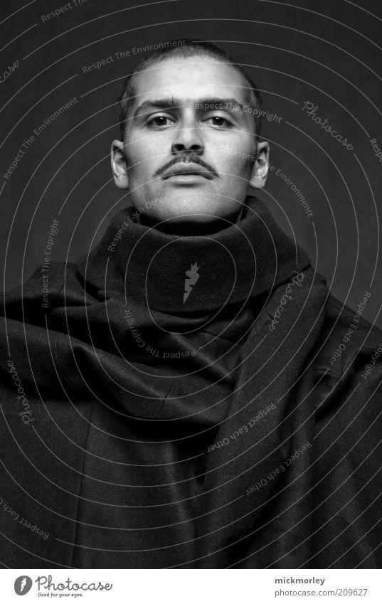 A Portrait in Black and White Mensch schön Erwachsene Stil Mode Kunst elegant maskulin ästhetisch außergewöhnlich Coolness einzigartig 18-30 Jahre Kreativität