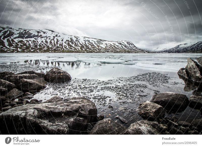 norge VI Natur Landschaft Wasser Gewitterwolken Frühling Winter Unwetter Berge u. Gebirge Gletscher See Norwegen Skandinavien jotunheimen dunkel Flüssigkeit