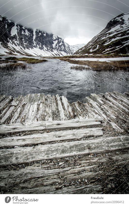 norge II Umwelt Natur Landschaft Wasser Wolken Frühling Hügel Felsen Berge u. Gebirge Fluss Norwegen jotunheimen Menschenleer alt dreckig gigantisch kalt trist