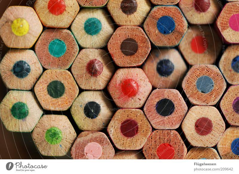 Ich mal mir die Welt wiedewiedewie sie mir gefällt! Holz Kreativität viele Idee Symmetrie Bleistift Malutensilien matt Vielfältig Farbstift Auswahl Schreibwaren