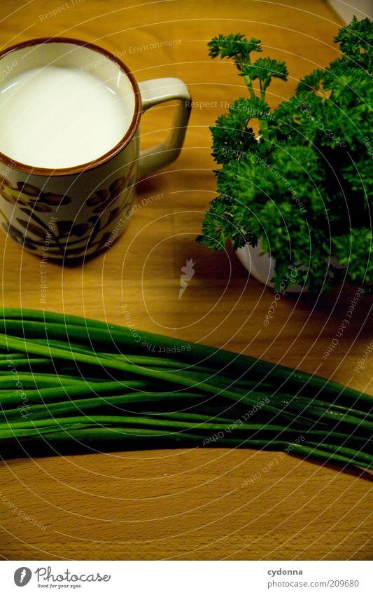 Bio Kräuter & Gewürze Ernährung Bioprodukte Vegetarische Ernährung Diät Milch Tasse Gesundheit ruhig ästhetisch Idee Inspiration Petersilie Schnittlauch Zutaten
