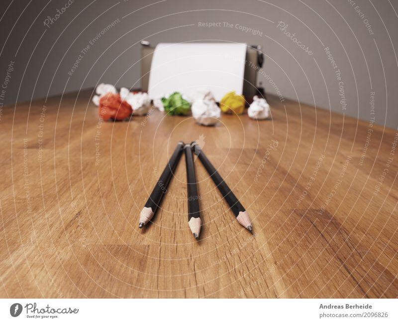 Kreativität Business Büro Kraft Erfolg Idee Symbole & Metaphern Falte Inspiration Schreibtisch Arbeitsplatz Bleistift innovativ Witz Schreibmaschine