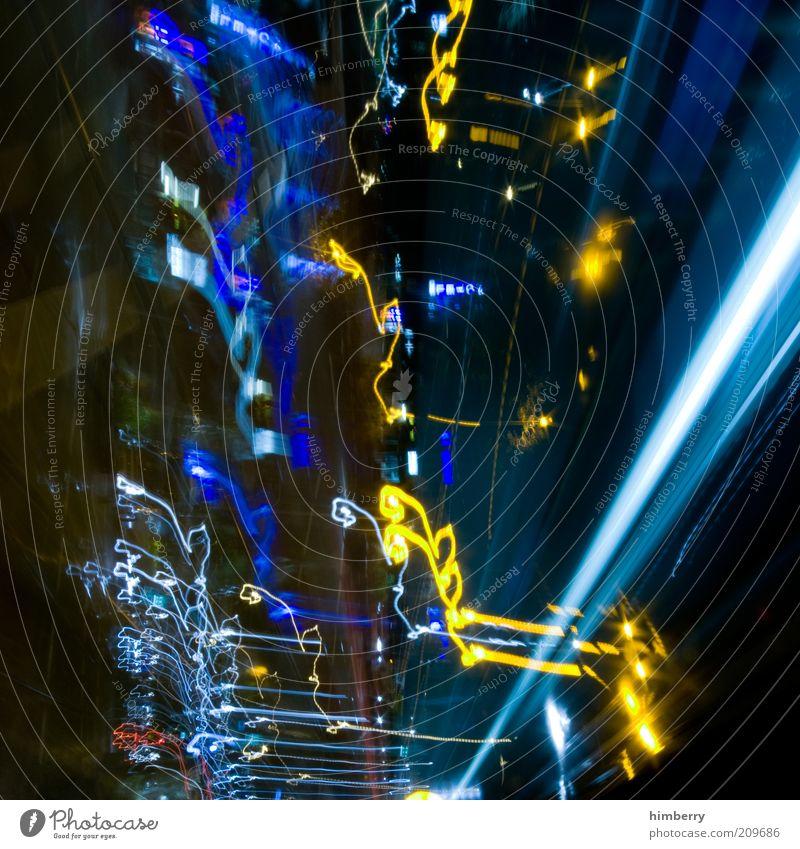 please standby Stil Design Kunst Kunstwerk dunkel Geschwindigkeit chaotisch Farbfoto mehrfarbig Außenaufnahme Experiment abstrakt Nacht Unschärfe