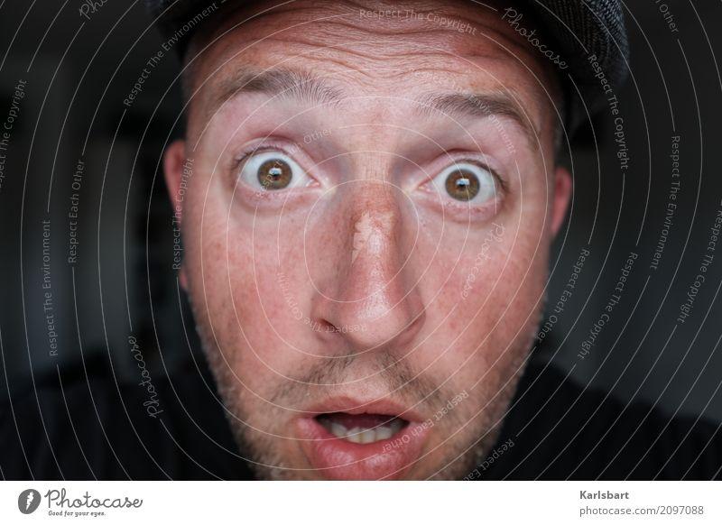 Nasenhaar Mensch Mann Freude Gesicht Erwachsene Lifestyle sprechen Haare & Frisuren Kopf maskulin Behaarung Bildung Erwachsenenbildung Überraschung