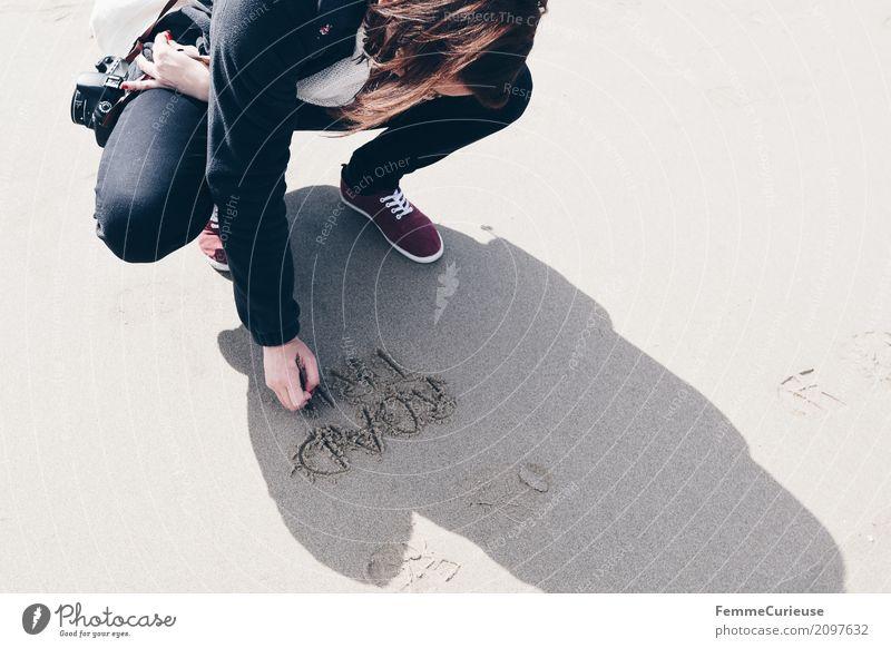 Roadtrip West Coast USA (128) Mensch Frau Ferien & Urlaub & Reisen Jugendliche Junge Frau Strand 18-30 Jahre schwarz Reisefotografie Erwachsene Küste feminin
