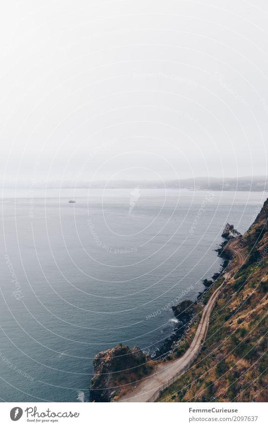 Roadtrip West Coast USA (141) Natur Urelemente Nebel Abenteuer Ferien & Urlaub & Reisen San Francisco Küste Pazifik Felsen Wege & Pfade Nebelschleier Nebelwand