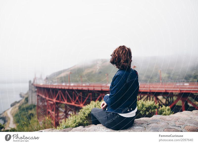 Roadtrip West Coast USA (135) feminin Junge Frau Jugendliche Erwachsene Mensch 18-30 Jahre Ferien & Urlaub & Reisen San Francisco Golden Gate Bridge Westküste