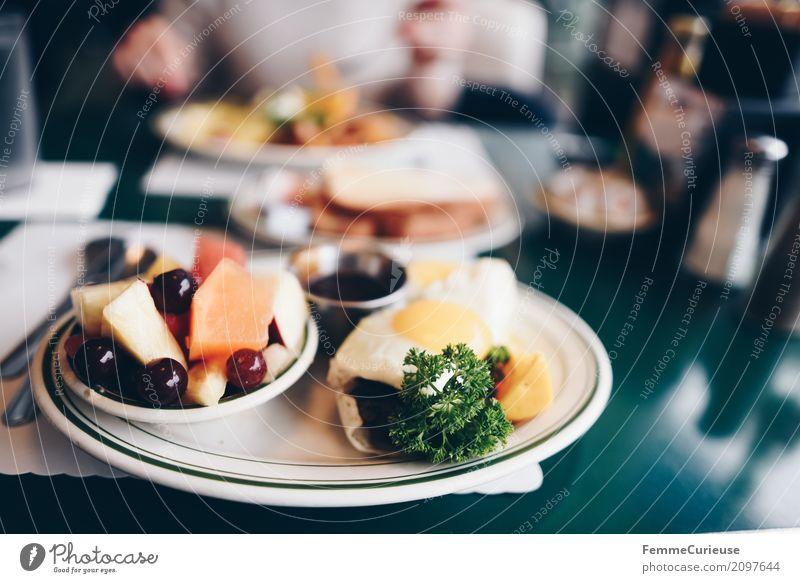 Roadtrip West Coast USA (119) Lebensmittel Ernährung Essen Frühstück genießen Diner Restaurant Straßencafé Westküste Kalifornien San Francisco Obstsalat