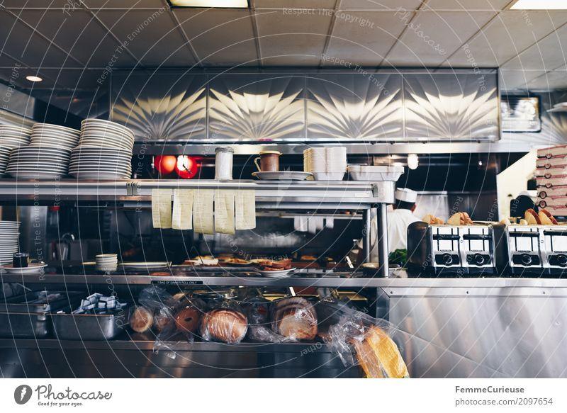 Roadtrip West Coast USA (117) Ernährung wählen Diner Restaurant Straßencafé Westküste Kalifornien Küche Auftrag Toaster Teller Geschirr Bestellzettel Toastbrot