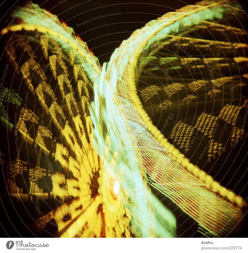 Es ist Sommerdom! Freude schwarz gelb dunkel Bewegung Feste & Feiern gold glänzend Energie Fröhlichkeit leuchten fahren analog Veranstaltung drehen Lebensfreude