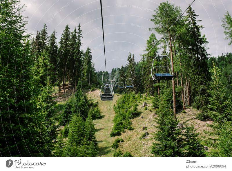 ab geht die Post Fahrradfahren Umwelt Natur Landschaft Himmel Sommer Wald Alpen Berge u. Gebirge Gletscher Skilift hoch natürlich trist geduldig Einsamkeit