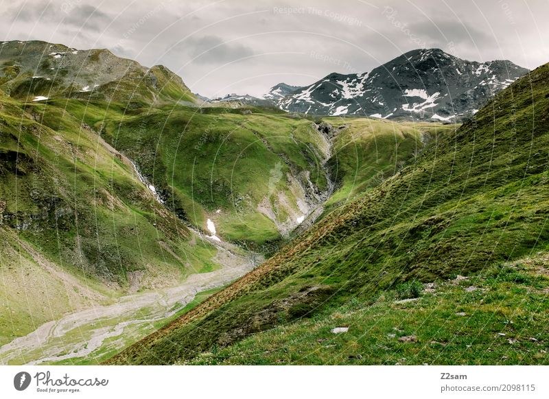 Umbrailpass Umwelt Natur Landschaft Gewitterwolken schlechtes Wetter Alpen Berge u. Gebirge Gipfel Gletscher bedrohlich dunkel gigantisch grün Abenteuer