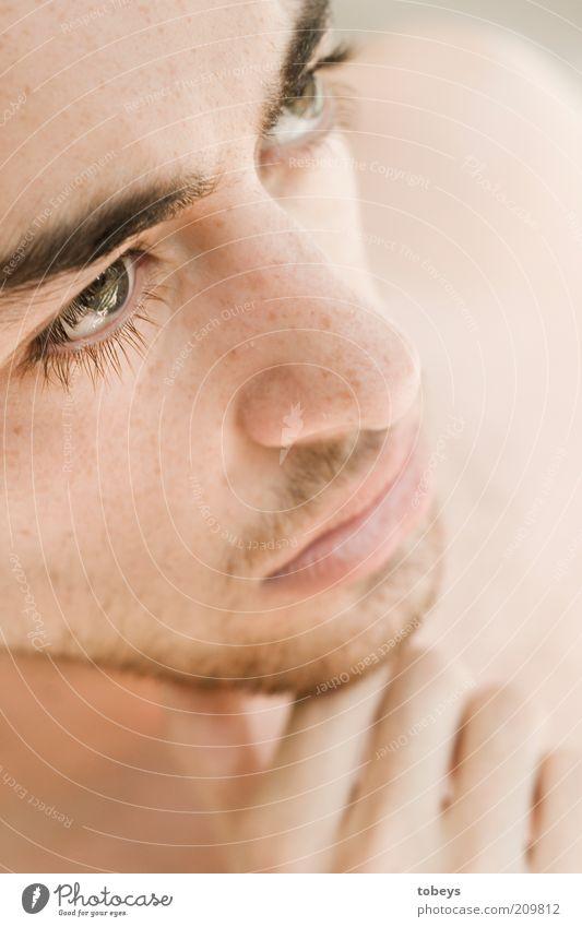Danielo Jugendliche schön Einsamkeit Gesicht Erwachsene Auge Erholung Gefühle Denken Gesundheit Zufriedenheit maskulin ästhetisch Zukunft 18-30 Jahre nachdenklich