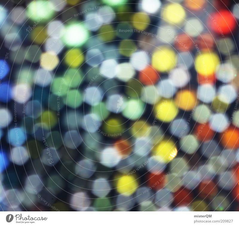 Lights. Kunst ästhetisch mehrfarbig leuchten glänzend viele klein Punkt Vielfältig Kreativität Idee regenbogenfarben schön Licht Dekoration & Verzierung