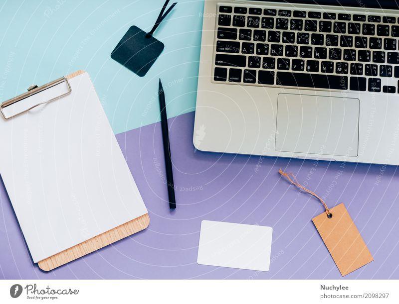 Draufsicht flach legen Stil von Worksapce Schreibtisch Lifestyle Design Arbeit & Erwerbstätigkeit Arbeitsplatz Büro Business Computer Notebook