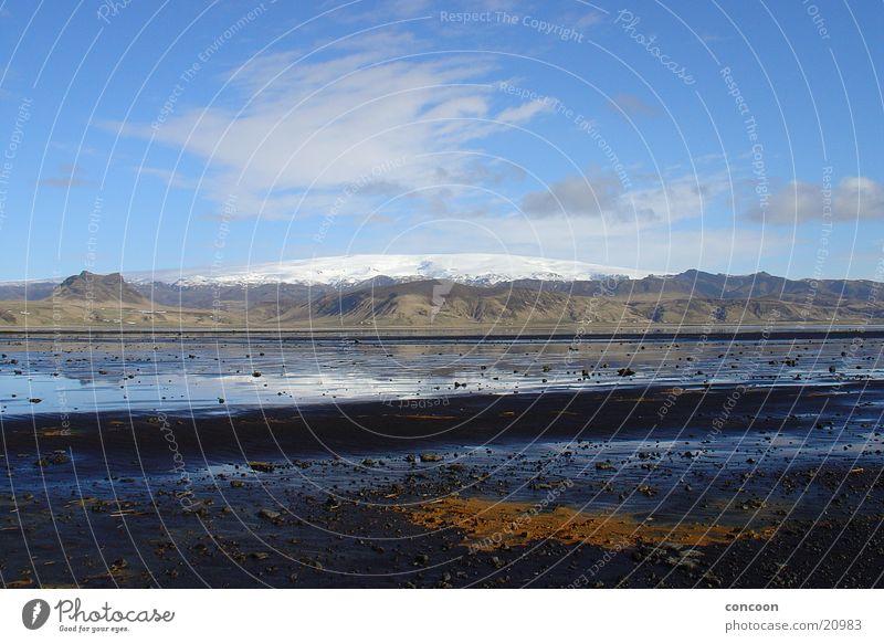 Vatnajökull Island Gletscher Vatnajökull Reflexion & Spiegelung Europa Berge u. Gebirge Schnee Sonne