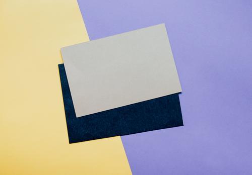 Umschlag der leeren Karte mit Kopienraum Farbe schwarz Lifestyle Stil Kunst Business Mode Design Arbeit & Erwerbstätigkeit Textfreiraum hell Büro modern retro