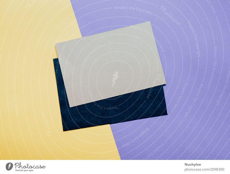 Umschlag der leeren Karte mit Kopienraum Lifestyle Stil Design Schreibtisch Arbeit & Erwerbstätigkeit Arbeitsplatz Büro Business Kunst Mode Accessoire Papier