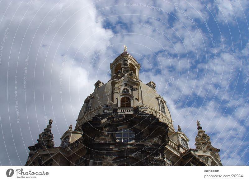 Frauenkirche Dresden Himmel Wolken Religion & Glaube Architektur Bauwerk Sachsen Kunstwerk Barock Almosen